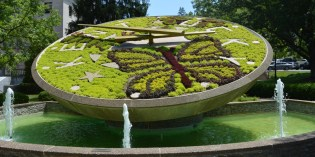 Floral Clock in the grounds of the Kentucky State Capital