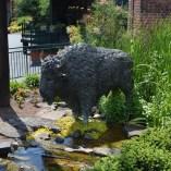 Statue at Buffalo Trace distillery