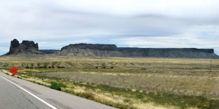 Mesa and outcrop near Shiprock