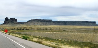 Mesa and outcrop near Shiprock