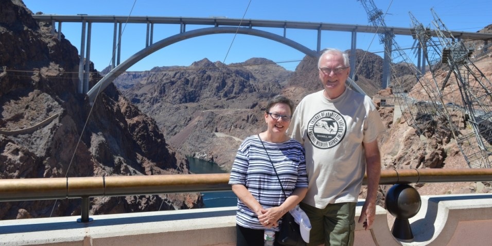Hoover Dam me and Connie with the Memorial Bridge in the background