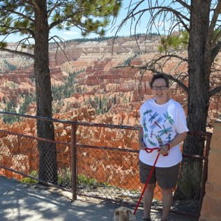 Bryce Canyon N.P. - Connie at Sunrise Point