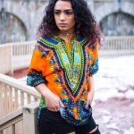 womens dashiki designs orange