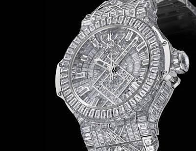 hublot diamond watch image