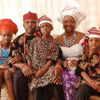 igbo man and family image