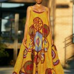ankara gown with pattern image