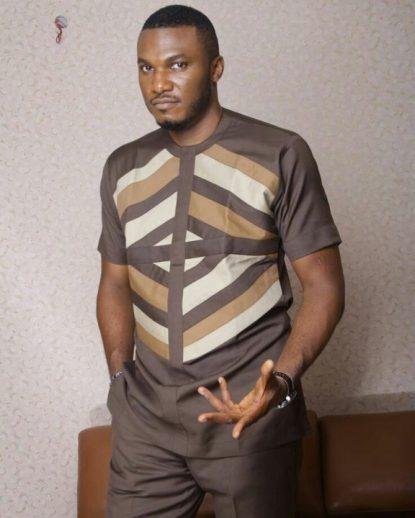 senator wear brown pyramid design image