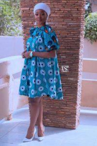 Ankara Fashion blue gown image