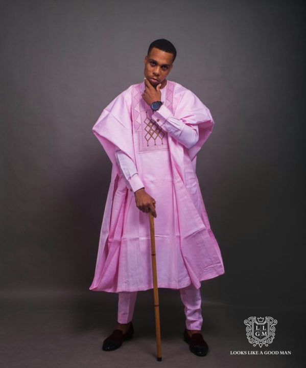 Nigerian Men's Traditional Fashion Styles pink agbada style