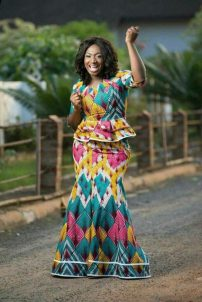 Ankara gown for chubby women image