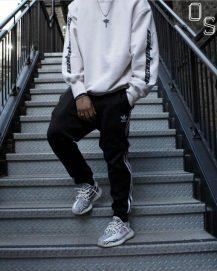 streetwear joggers and sweatshirt image