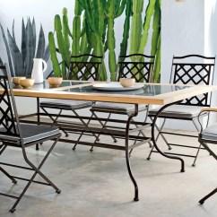 Chair Design Iron Cape Cod Beach Hours Manutti Capri Dining Table Rectangular Couture Outdoor