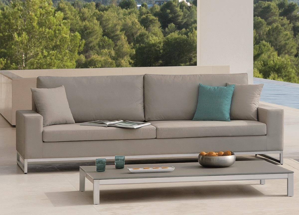 sofa outdoor rattan garden set furniture manutti zendo 3 seater couture