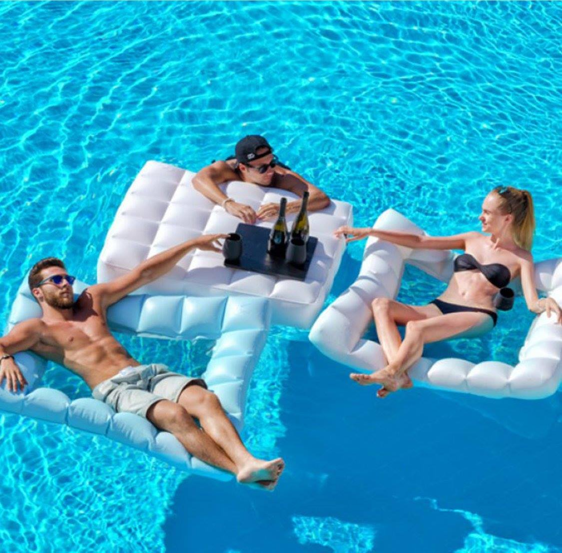 pool floating lounge chair wood adirondack chairs oasis inflatable furniture couture outdoor