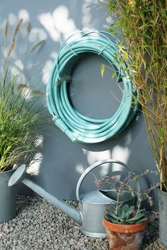 half moon garden sofa set chartreuse turquoise blue hose. your own little oasis ...