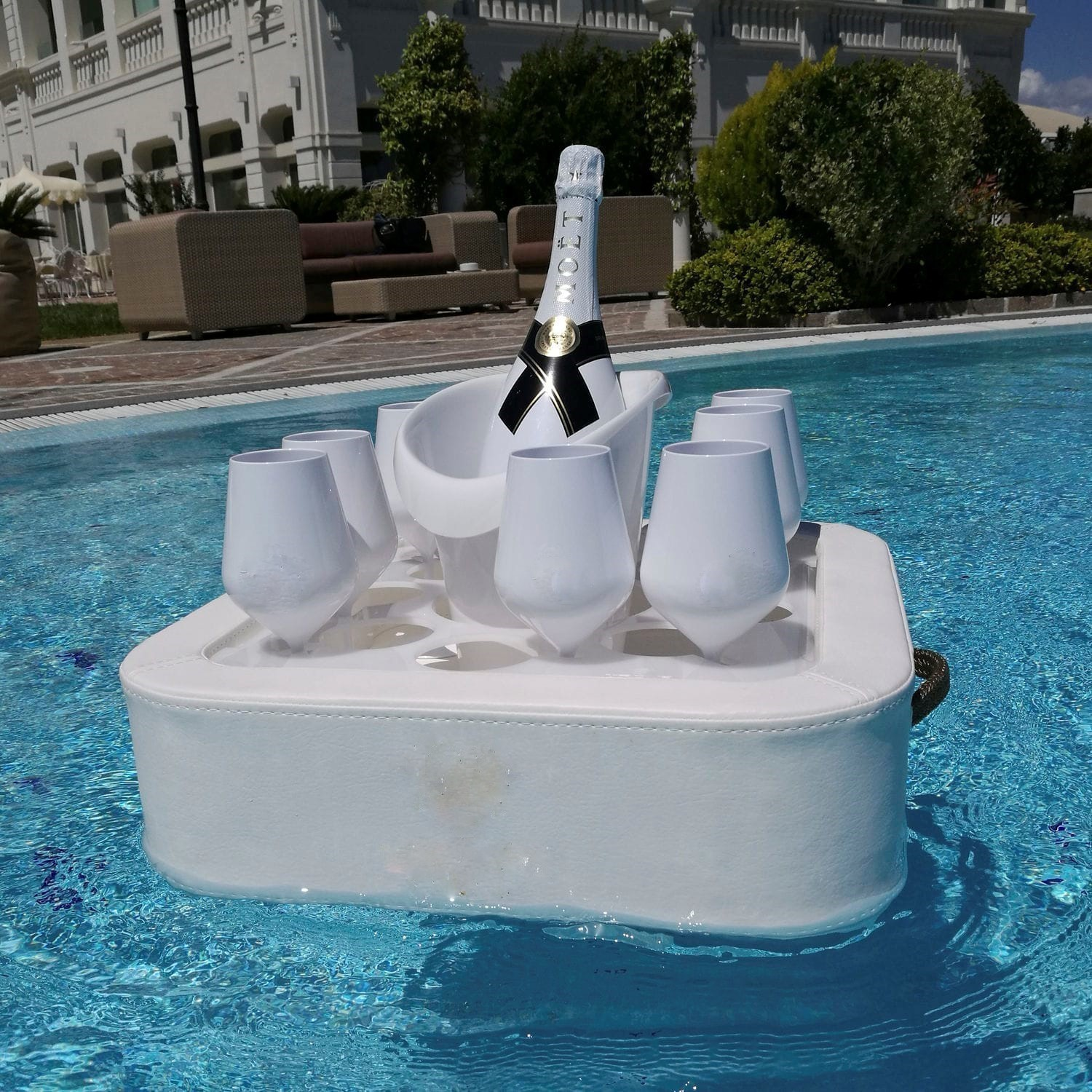 inflatable outdoor sofa chair hanging instructions in pool floating bar - perfect for gatherings couture