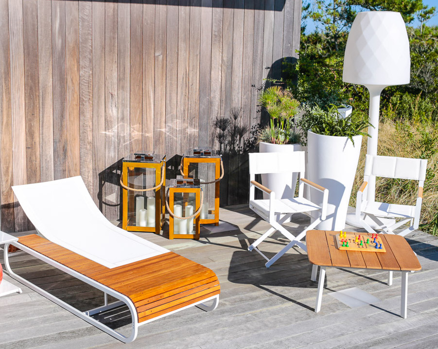 Tandem Luxury Teak Amp Corian Chaise Lounger Couture Outdoor