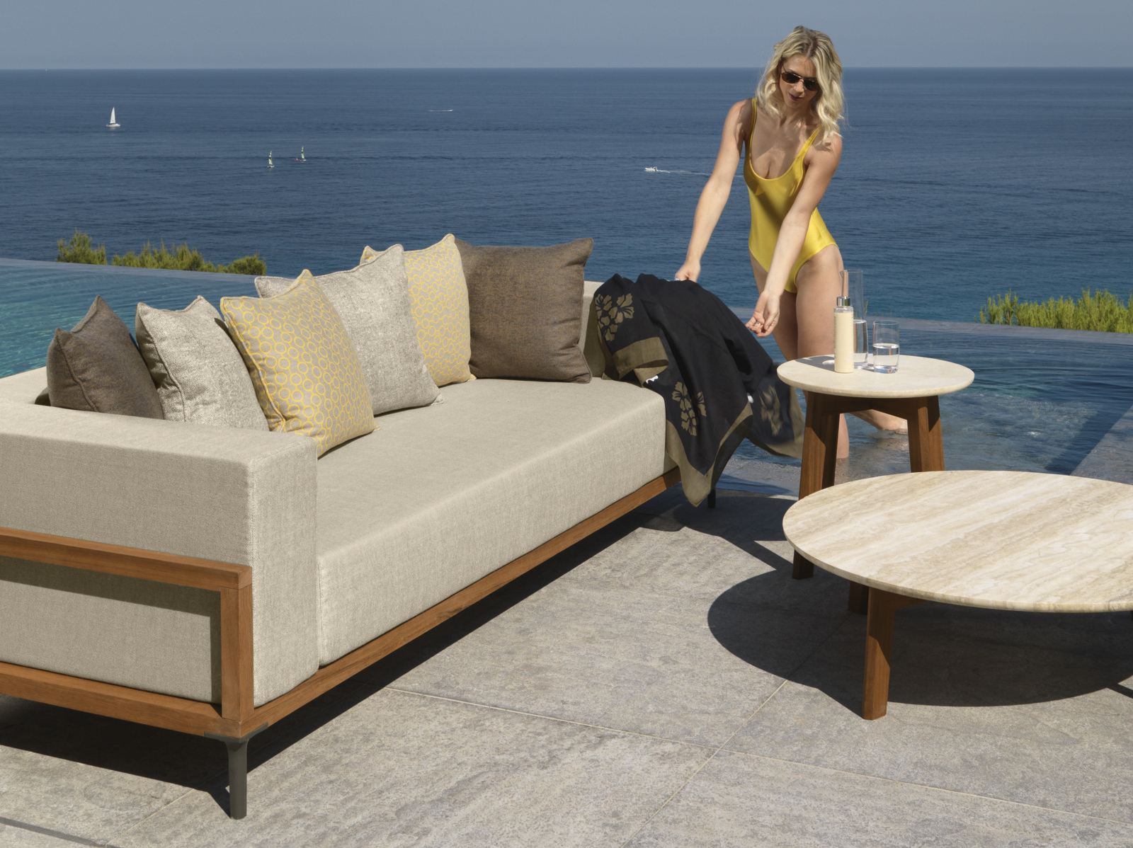 luxe 2 seat sofa slipcover dfs real leather corner sofas apropos 3 seater teak or aluminum couture outdoor