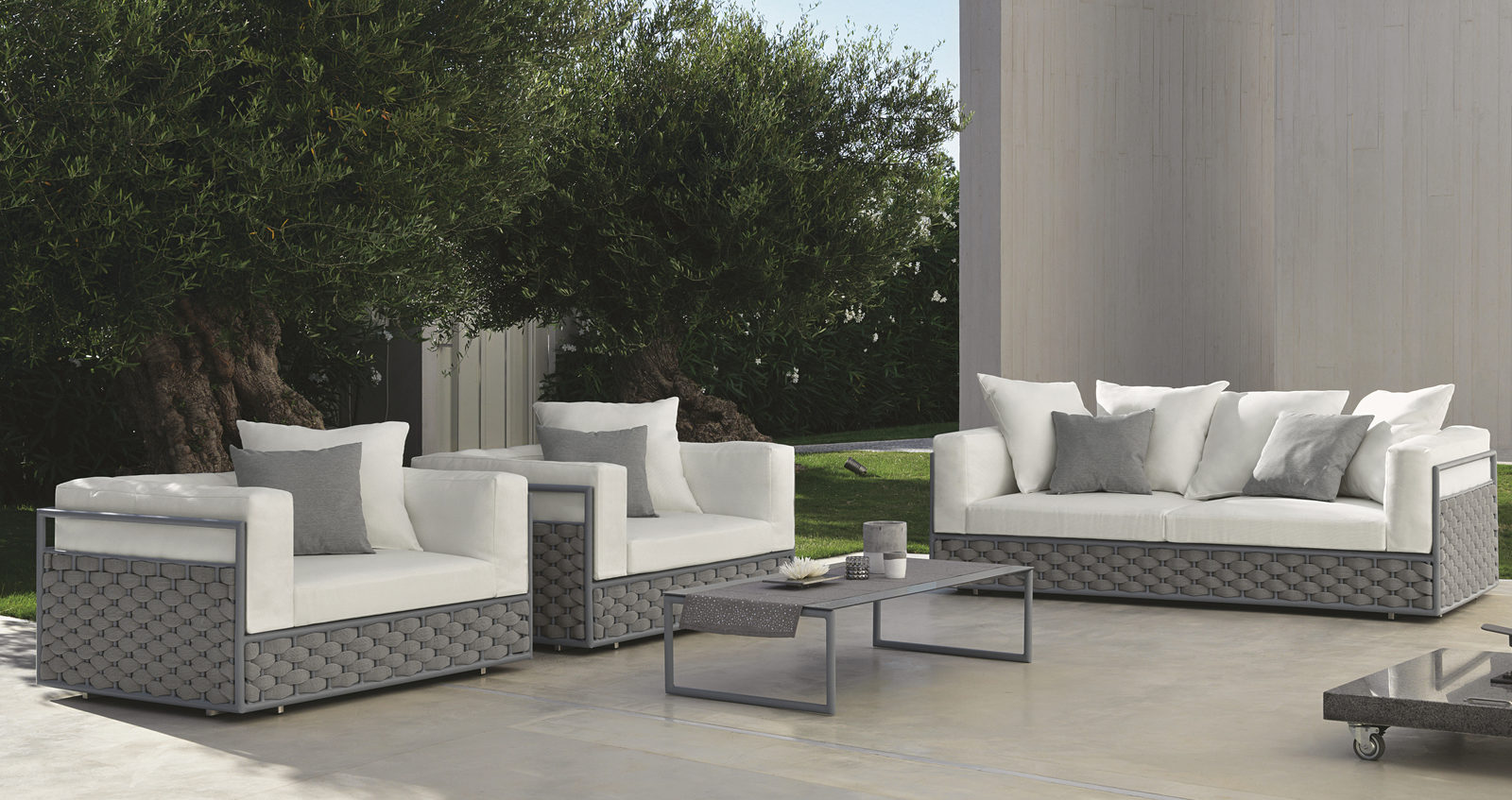 luxe 2 seat sofa slipcover frame plans free dove and 3 seater couture outdoor