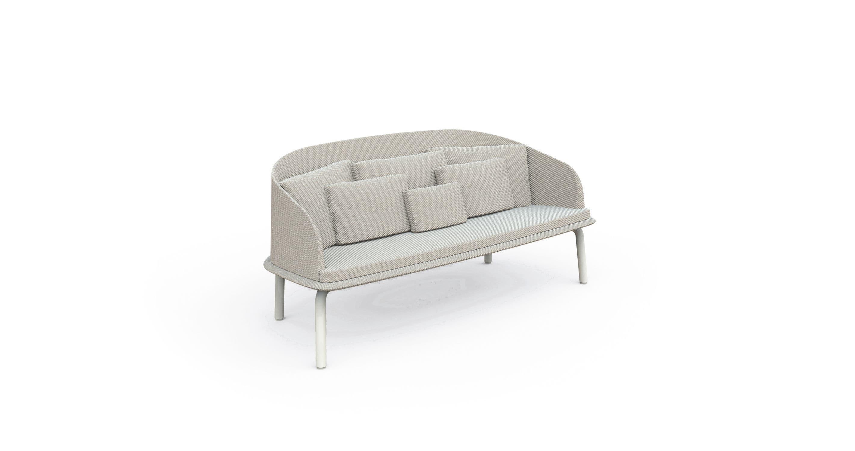 luxe 2 seat sofa slipcover broken leg apropos seater teak or aluminum mod couture outdoor