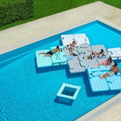Inflatable Outdoor Sofa Chair Bulk Folding Chairs Floating Oasis Pool Furniture - Couture