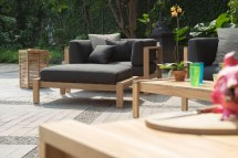 Modern Teak Cushion Club Chair Barn Style Contract Hotel
