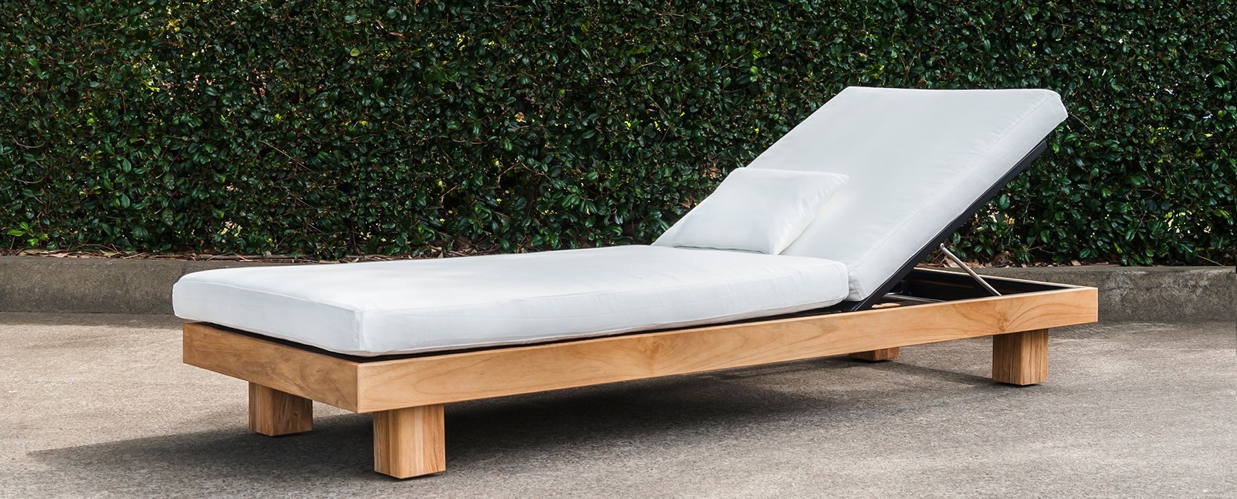 Alura Chaise Lounger Teak Stellar  Couture Outdoor