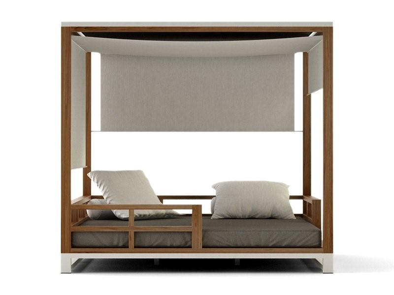 beach canopy chair euro chairs for rv modern aluminum teak sunbrella adjustable daybed quick-dry contract hotels