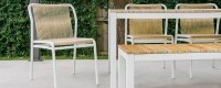 Flyn Rope & Wicker Dining Chair Stellar - Couture Outdoor