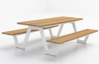 Modern Aluminum Teak Picnic Table Highend Strong Luxury ...