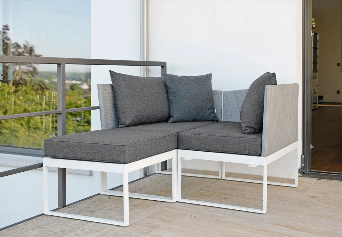 sofa lounger outdoor cheap sofas uk gumtree modern aluminum textilene 3 seater balcony contract multifuctional chaise lounge terrace furniture stock