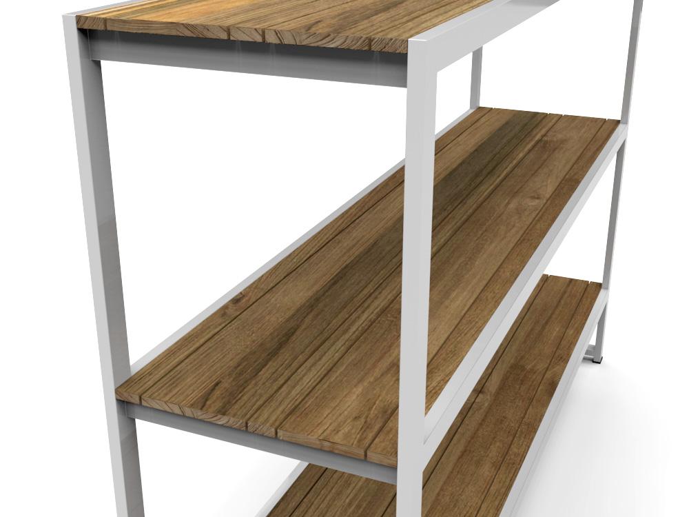 bermudafied modern teak shelves