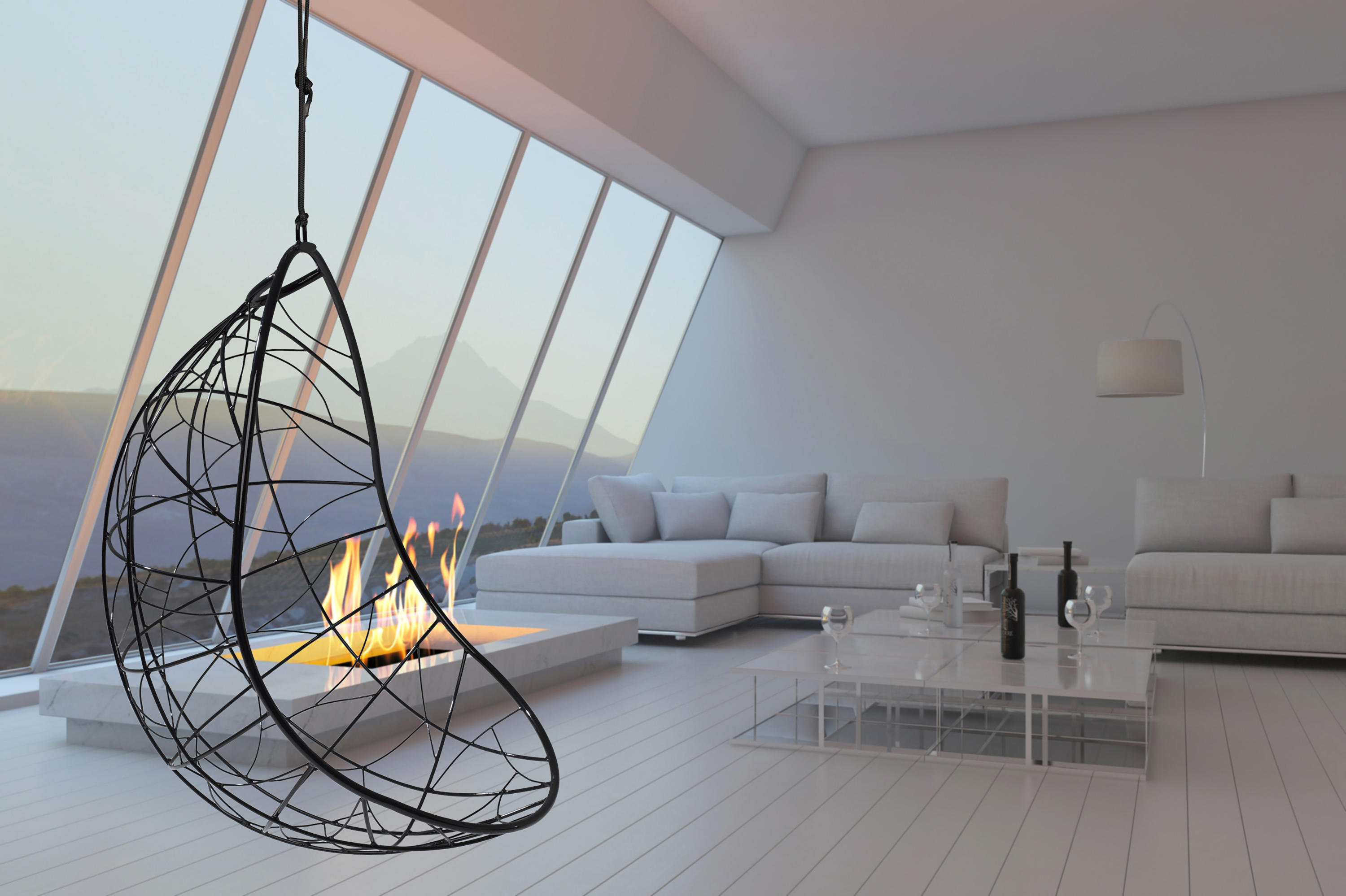 hanging chair luxury kitchen dining chairs ego swing sway couture outdoor