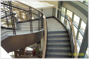 Decorative Metal Stairs  Custom Curved Staircase 057100