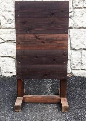 木製スタンド看板T型正面