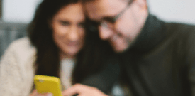 couple using phone