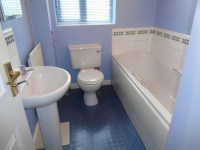 Coventry Bathrooms  Blue and White Bathroom with White Tiles