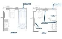 Bath Conversion to Shower and Starlight Quartz Floor Tiles