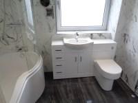 Luxury Bathroom Renovation With Italian Marble Effect Tiles