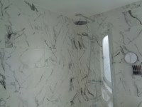 Luxury Bathroom Renovation With Italian Marble Effect Tiles