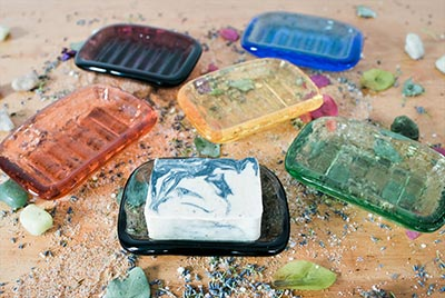 handcrafted soaps in glass dishes - Our Story