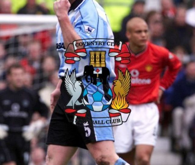 Coventry Citys John Hartson Celebrates His Goal During The Fa Carling Premiership Game Against Manchester United