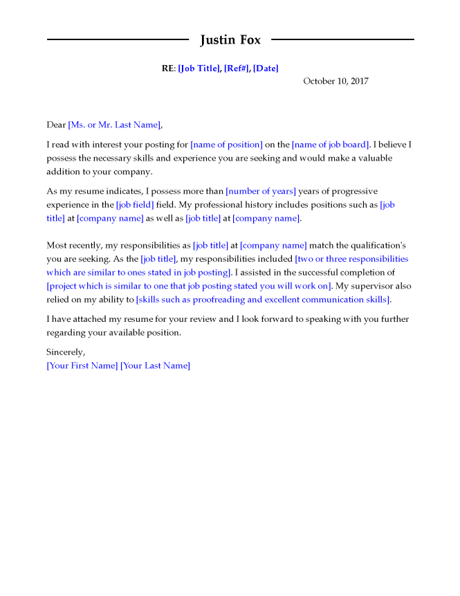 Image Led Write A Cover Letter 2