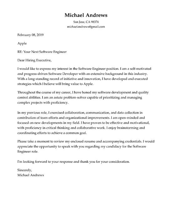 Cover Letter Headings
