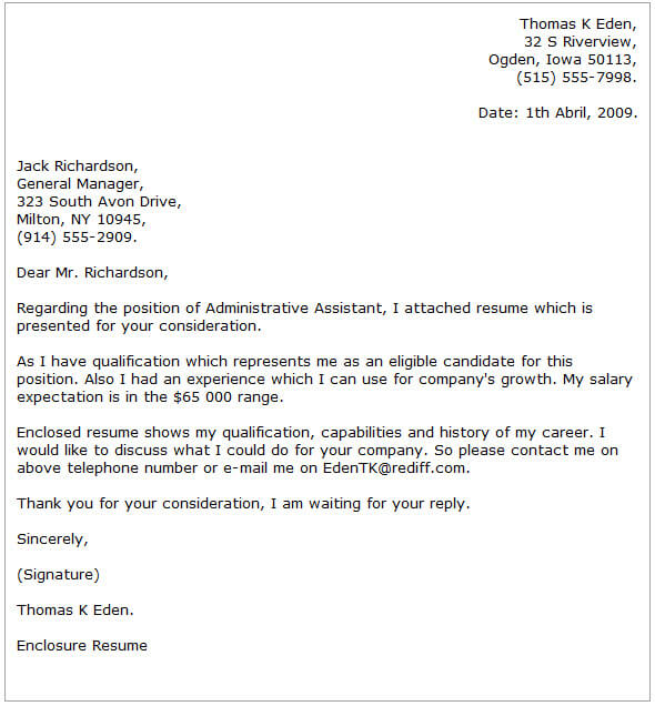 Administrative Assistant Cover Letter Examples  CoverLetterNow