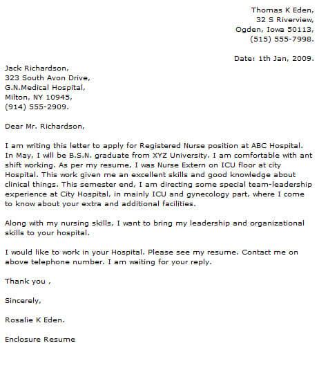 Medical Cover Letter Examples  CoverLetterNow
