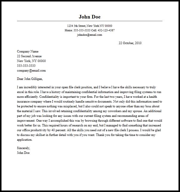 application letter sample for accounting clerk