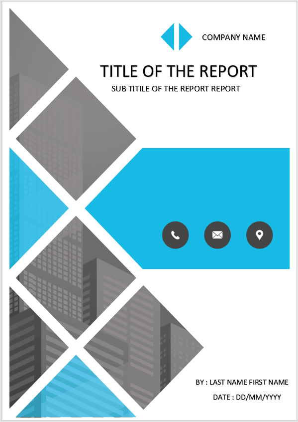Cover Page  Download Template For MS Word  Smart Cover Design