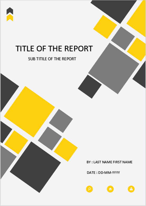 Cover Page  Download Template For MS Word  cover page yellow square