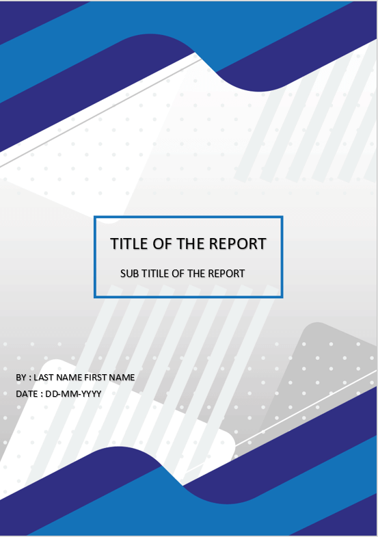 cover page template for ms word